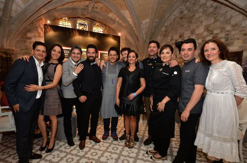 Mexico's Secretary of Tourism, Claudia Ruiz Massieu with the countryâeuro(TM)s top chefs celebrating three ...