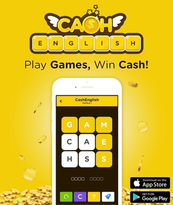 CashEnglish is the first educational game app to motivate users with cash rewards.