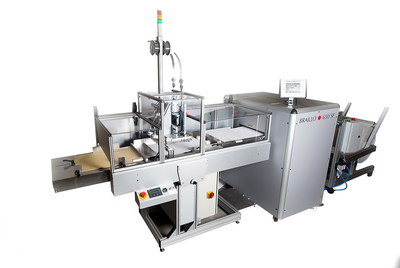 """The Braillo 650 SF is the world's only fully automated Braille book production system. Send a file and pick up a finished, folded, covered and stapled book. The Braillo 650 SF makes """"on-demand"""" Braille publishing possible."""