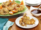 Walnut Shrimp Poppers with Citrus Sauce