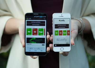 Leafly Android and iOS apps. (PRNewsFoto/Leafly)