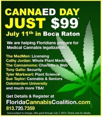 CannaEd Day is July 11th at the Renaissance Marriott Hotel in Boca Raton (PRNewsFoto/Florida Cannabis Coalition)