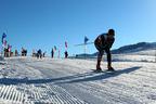 Ski Lovers Skiing on Nalat Ski Field.  (PRNewsFoto/City Channel of China Economic Net)
