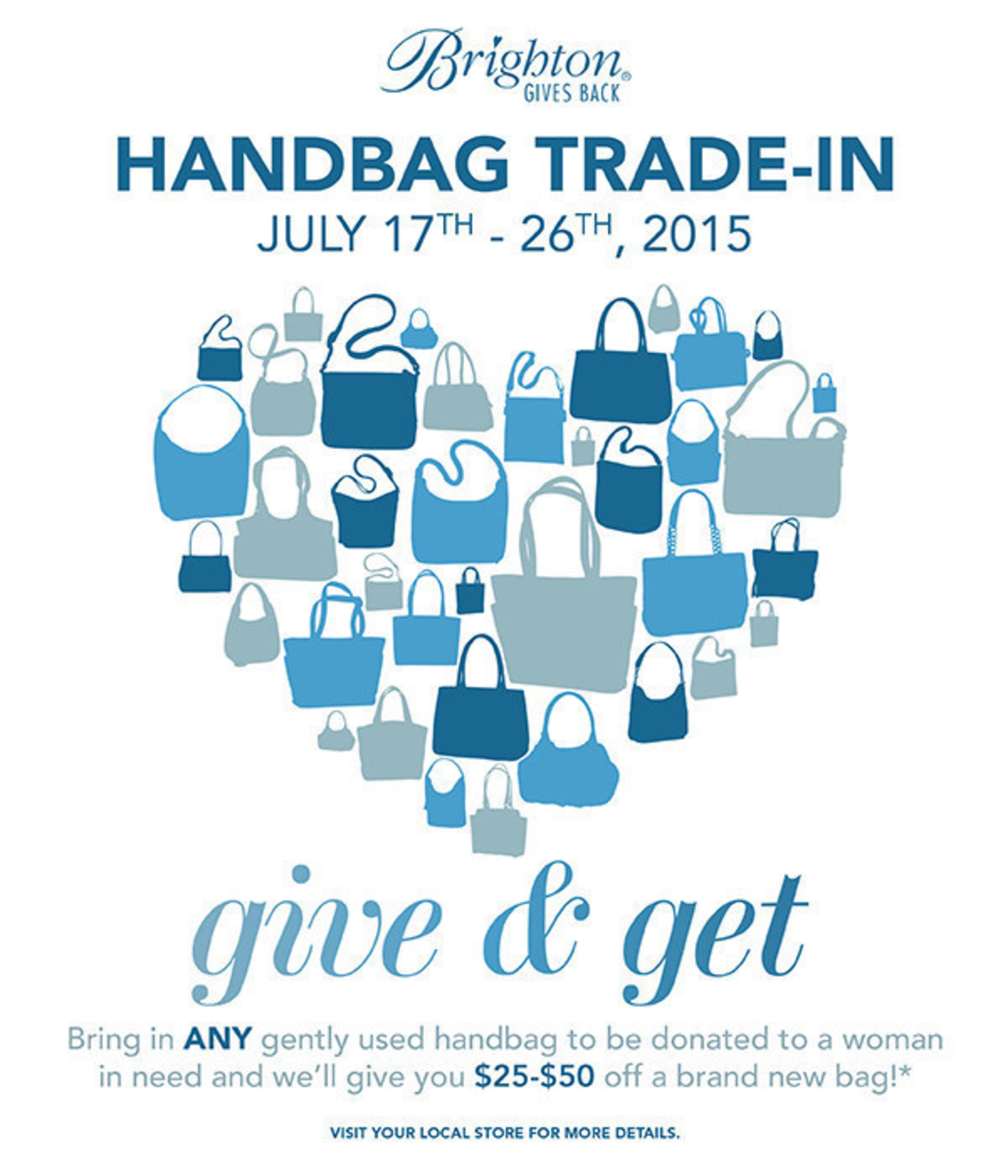 Brighton Handbag Trade-in July 17th - 26th, 2015