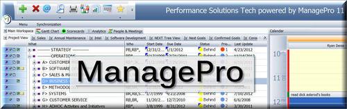 ManagePro Screengrab.  (PRNewsFoto/Performance Solutions Technology, LLC)