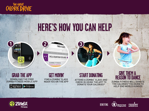 Don't Just Burn Calories, Donate Them! Zumba® Fitness' 'The Great Calorie Drive™' Initiative Helps