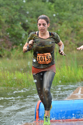 """Erica Montelo is being honored by the National Multiple Sclerosis (MS) Society as the 100,000th participant (or """"mucker"""") at MuckFest MS, the fun mud & obstacle 5K event series where all fundraising proceeds benefit the National MS Society."""