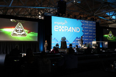 The historic mission patch was announced live with media partner Engadget at their Expand conference in San Francisco, and was live streamed world-wide.