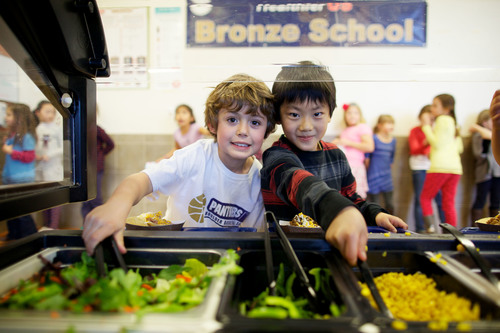 Salad Bars Increase Students' Access to Fresh Fruits and Vegetables. (PRNewsFoto/Let's Move Salad Bars to Schools)