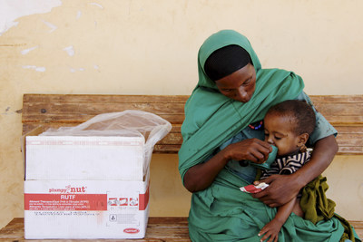Yesriba, 28, with her son Seid, two, who is recovering from severe-acute malnutrition, in Sewena, Bale Zone. Weak from poor nutrition, the child was diagnosed and treated for pneumonia.  Credit: Kyle Degraw/Save the Children