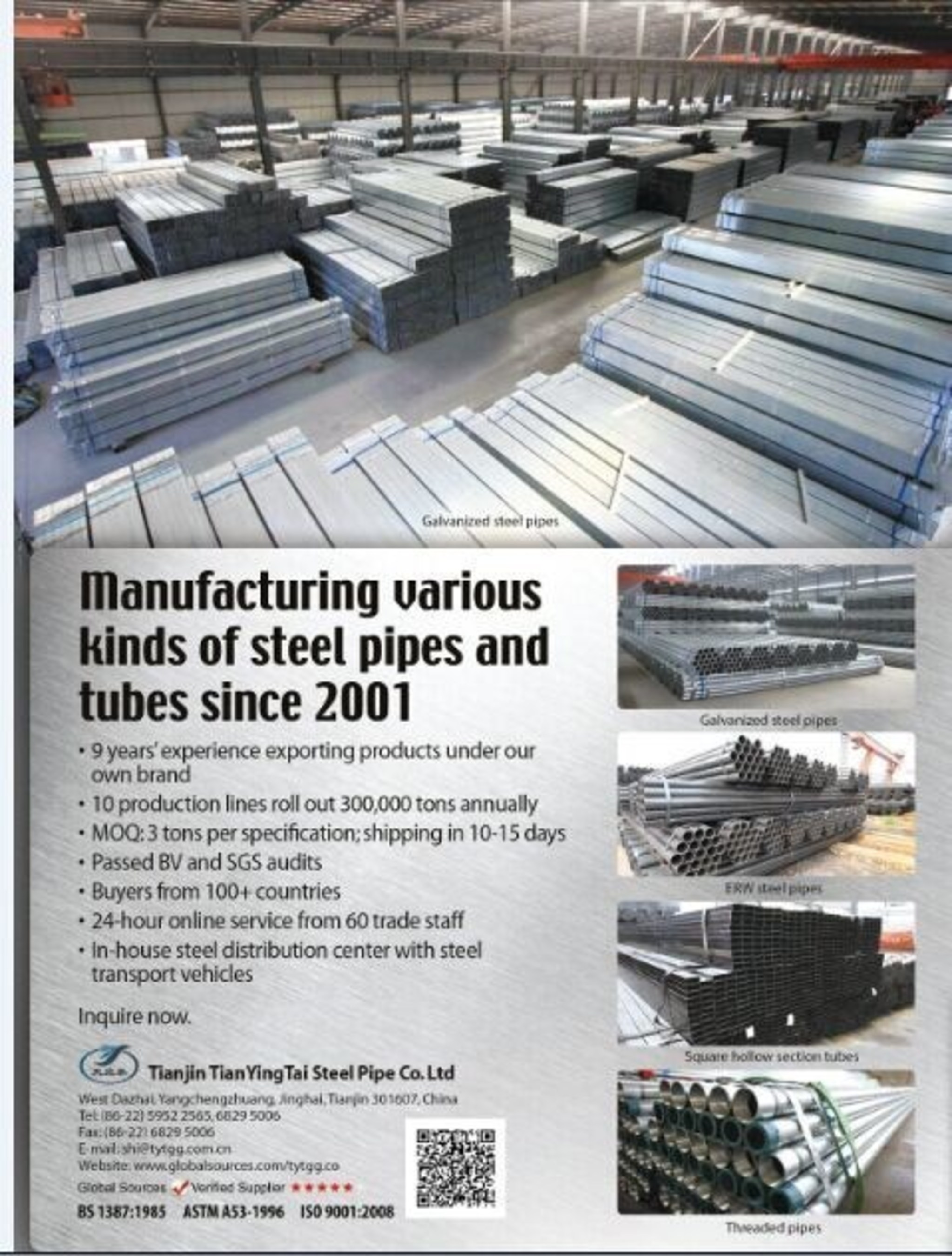 TYT Steel Pipe Group Believes That Quality Is the Future