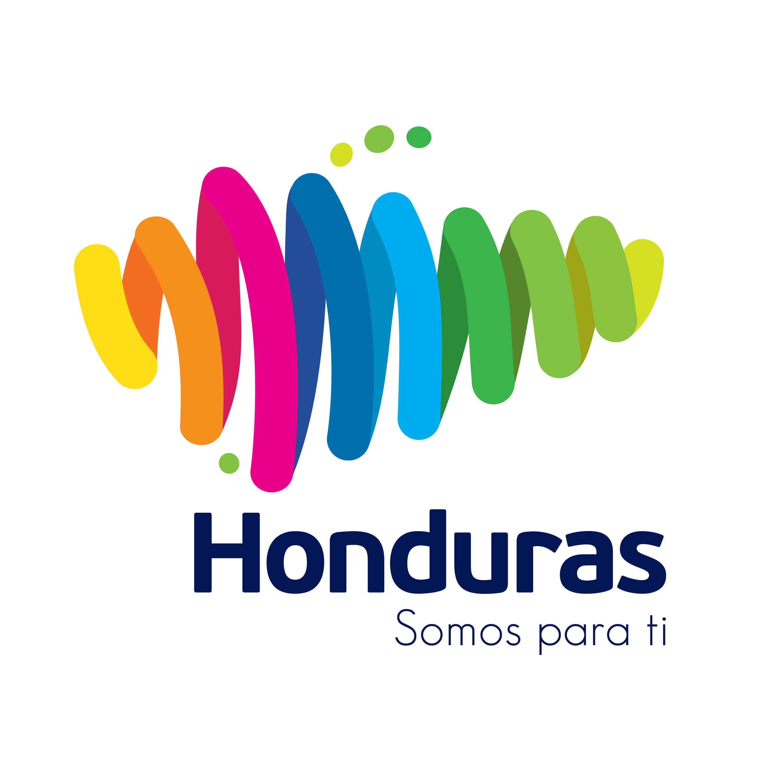 """Honduras official country brand logo. """"Honduras: Somos para ti"""" (Honduras: We are for you)"""
