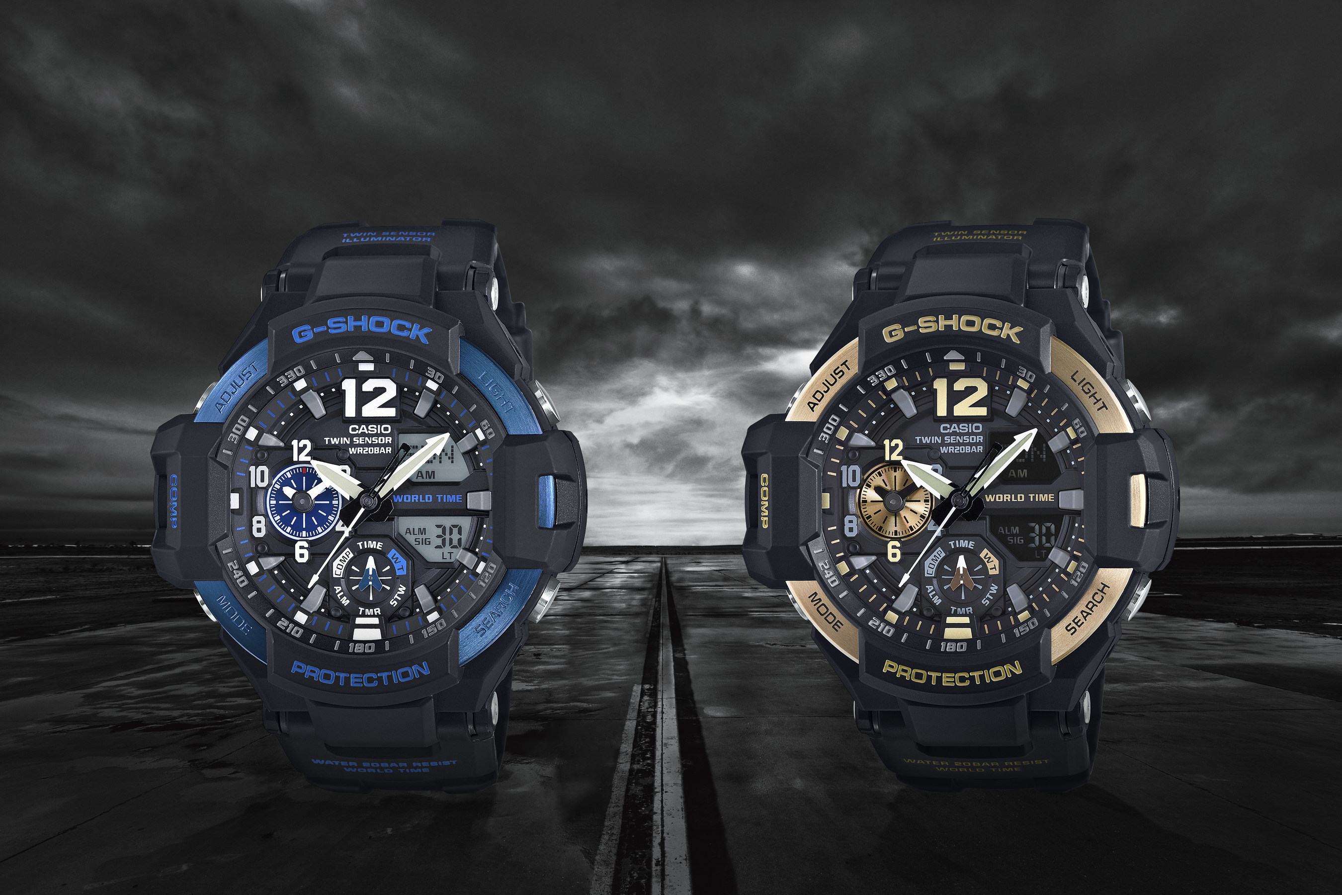 Casio G-Shock Releases New Colors To The GRAVITYMASTER For Spring 2016