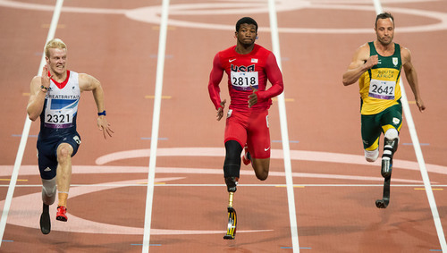 Richard Browne wins Paralympic Silver Medal for Team USA in the 100m Sprint.  (PRNewsFoto/Freedom Innovations, LLC)