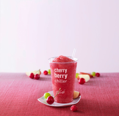 """McDonald's introduces its new McCafe Cherry Berry Chiller and Blueberry Banana Nut Oatmeal as part of its """"Flavors of Summer"""" limited time menu line-up.  (PRNewsFoto/McDonald's USA)"""