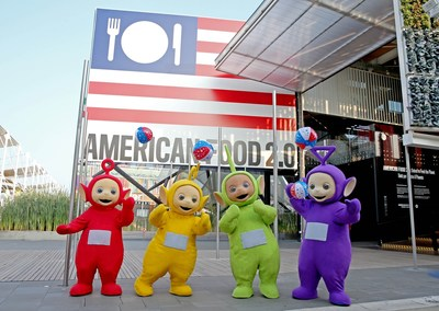 The Teletubbies made a very special visit to the American Pavilion at the World Expo in Milan, Italy. 2015 marks the return of the preschool global phenomenon, nearly twenty years after they first appeared on television screens in 120 countries. Teletubbies will return to US screens on Nickelodeon in 2016.