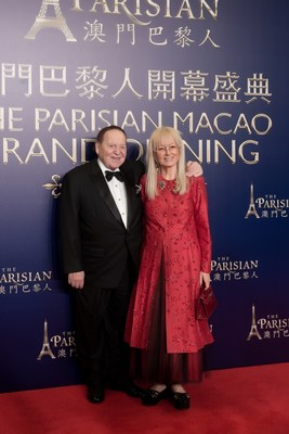 Dr. Miriam Adelson joins Mr. Sheldon G. Adelson on the red carpet Tuesday at the grand opening celebration of The Parisian Macao.