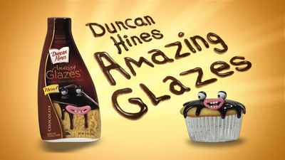 Make any delicious dessert sing with Duncan Hines Amazing Glazes.