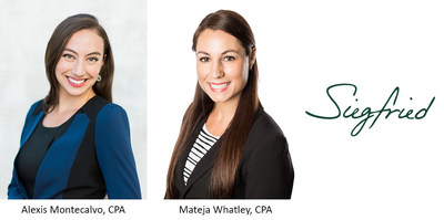 The Siegfried Group Welcomes Alexis Montecalvo and Mateja Whatley to its Leadership team