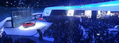 5,000-plus international journalists pack Cobo Center in Detroit to view more than 50 production and concept vehicle unveilings.