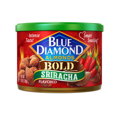 Blue Diamond Growers Sriracha flavored almonds is the newest addition to Blue Diamond's BOLD line.