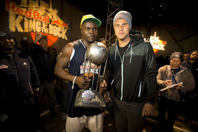 "Red Bull King of the Rock winner Tarron ""The Beast"" Williams and Blake Griffin.  (PRNewsFoto/Red Bull, Red Bull Content Pool)"