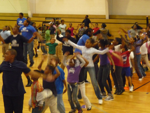 Kids at Herbert Hoover Boys and Girls Club Take on the Guinness World Record for Jumping Jacks
