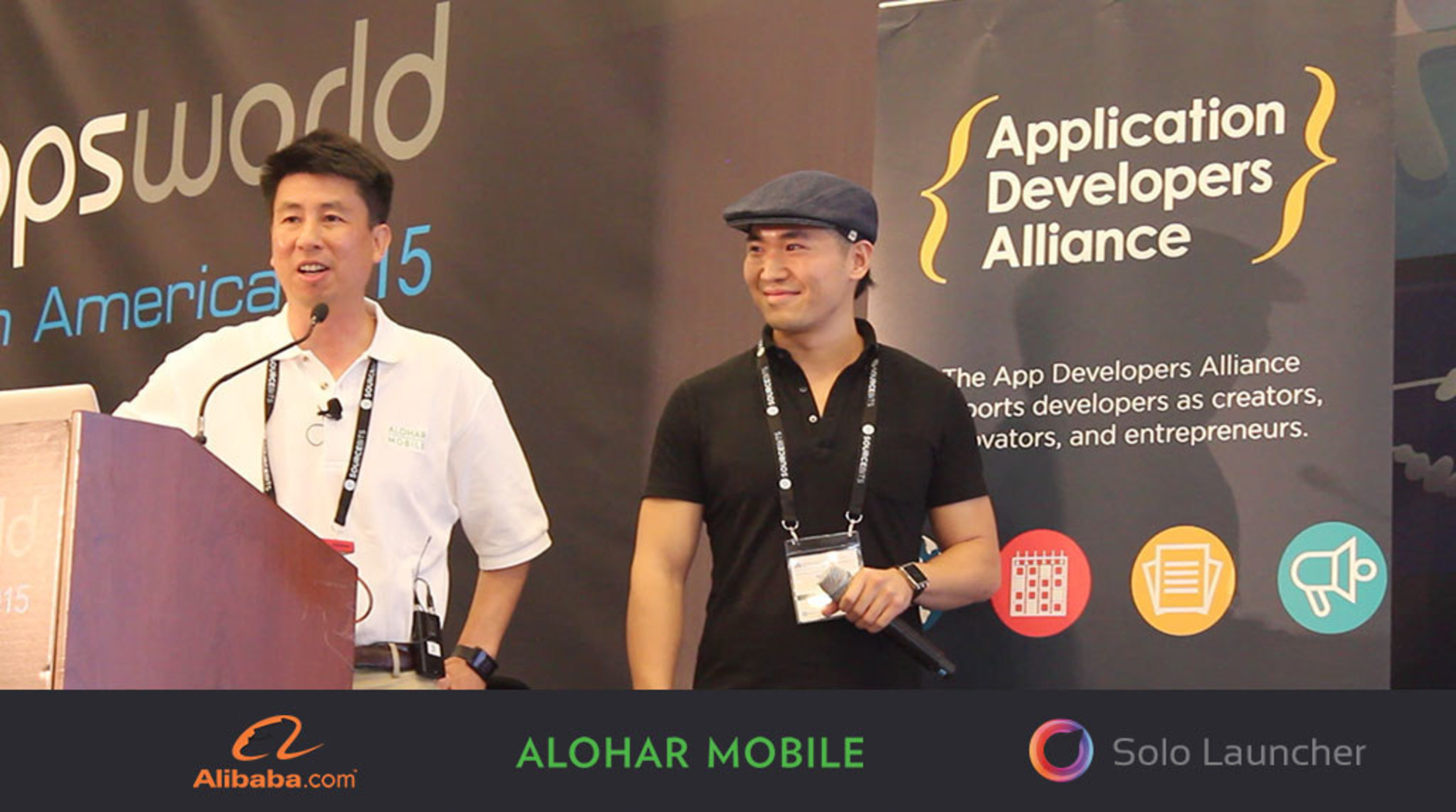 Sam and Peter Speaking at AppsWorld 2015