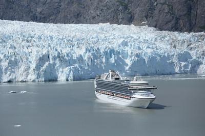 Crown Princess in Glacier Bay National Park, Alaska.