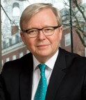 Kevin Rudd, former Prime Minister of Australia, will serve as the first President of the Asia Society Policy Institute.