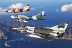 ATAC L-39 Albatros, Mk.58 Hunter and F-21 Kfir flying off the southern California Coast supporting the US Navy.
