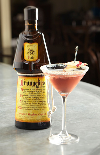 Frangelico(R) Hazelnut Liqueur, along with chefs and bartenders nationwide, is officially proclaiming September as the first-ever National Hazelnut Month featuring popular cocktail Fall Basket.  (PRNewsFoto/Frangelico Hazelnut Liqueur)