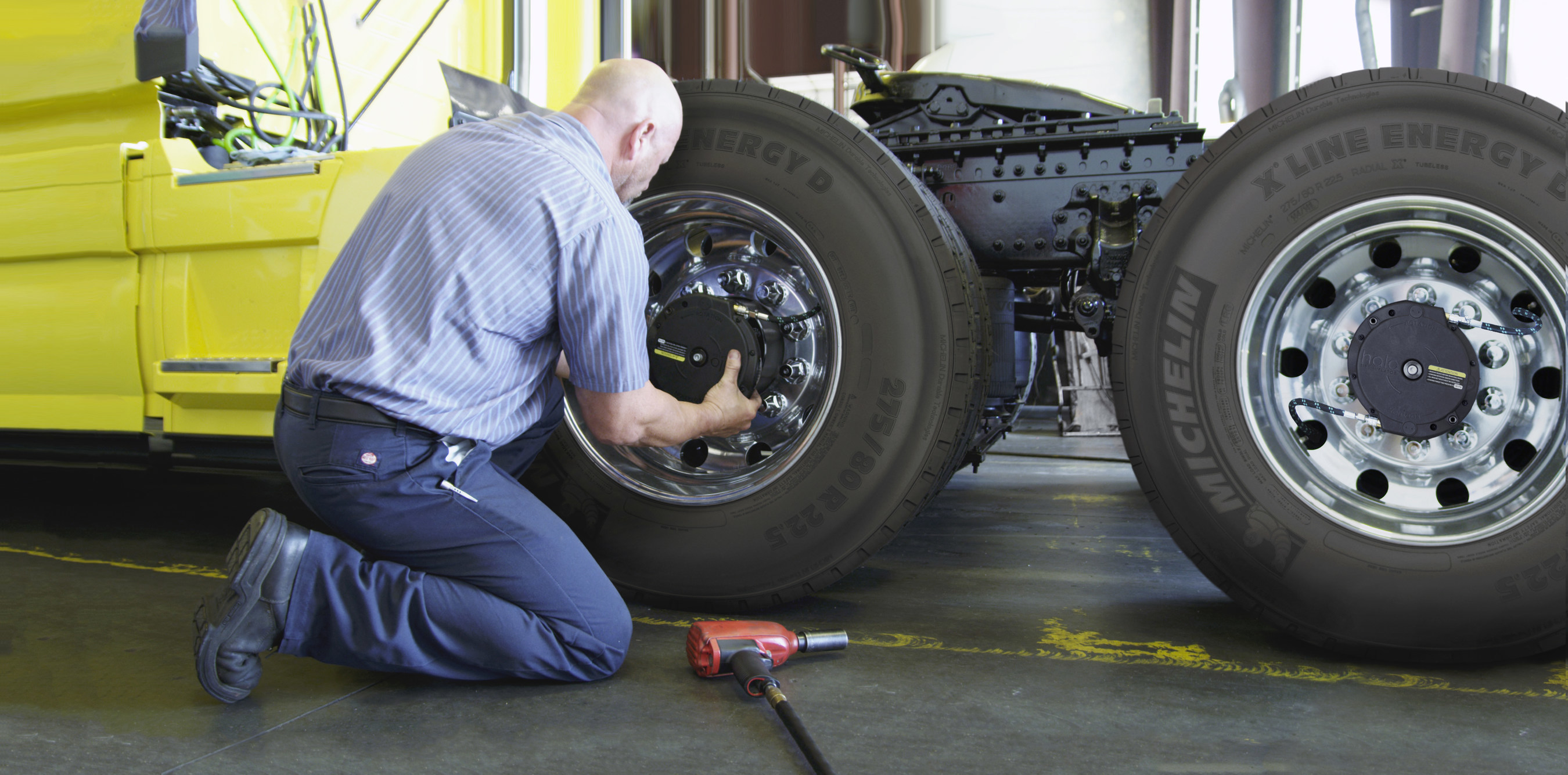 MICHELIN Auto Inflate Answers the Complex Problem of Maintaining Optimal Tire Inflation Pressure on Commercial Trucks