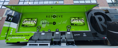 REPREVE National #TurnItGreen Tour demonstrates process behind transforming bottles into cool stuff you wear and use everyday