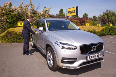 Hertz is the first car rental company to offer the all-new Volvo XC90 for rent in the UK.