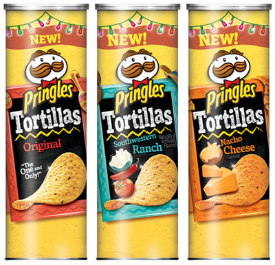 Pringles Tortillas are available in Original, Southwestern Ranch and Nacho Cheese flavors. (PRNewsFoto/Kellogg Company) (PRNewsFoto/KELLOGG COMPANY)