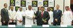 Khalifa Al Shamsi, Dilip Rahulan and other officials of Etisalat Group and Pacific Controls at the signing ceremony