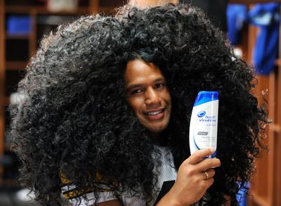 head & shoulders insures Troy Polamalu's full, thick hair for $1 million. (PRNewsFoto/head & shoulders)