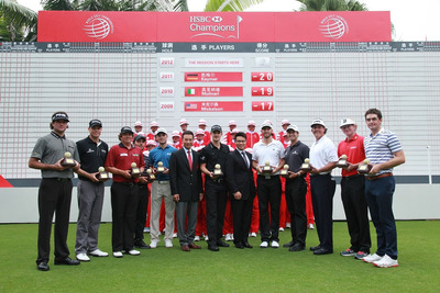 Top players gathered at Mission Hills Dongguan for WGC-HSBC Champions.  (PRNewsFoto/Mission Hills China)
