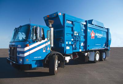 New Fleet Of Natural Gas Powered Trucks Now Serving Anaheim.  (PRNewsFoto/Republic Services, Inc.)