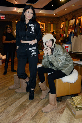 KENDALL AND KYLIE JENNER SHOP THE UGG CLASSIC COLLECTION IN NYC