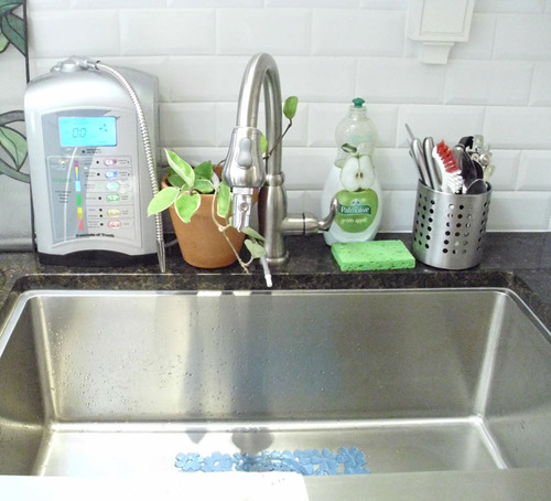 Alkaline water ionizer machines connect directly to the kitchen faucet to provide antioxidant rich ionized ...