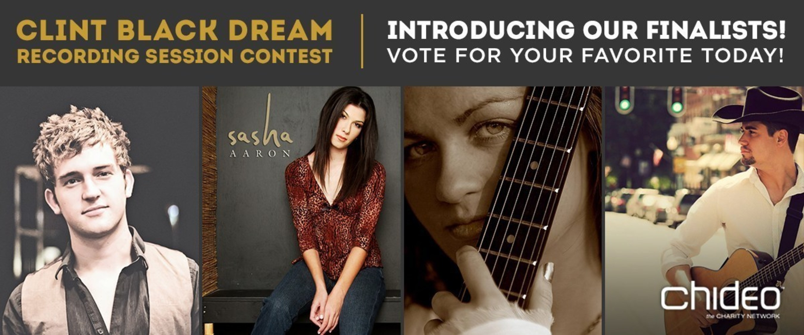 The finalists are in! Head to Chideo.com to vote for your favorite original song and the winner gets the opportunity to record with county superstar Clint Black. After you vote, you can donate to rettsyndrome.org to win the chance to have dinner with Clint himself!