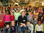 New York Times bestselling author Brian Lies inspires students' imaginations at Addison Elementary during Cobb EMC's fifth annual Literacy Week.