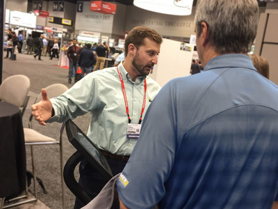 Alex Herbert discusses industrial automation challenges with attendees last year at The Automation Fair.