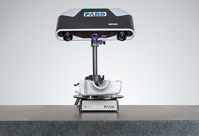 Basic application of Cobalt Array Imager, mounted on a tripod and using a rotary table.
