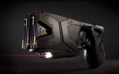 The TASER(R) X2(TM) Smart Weapon.  The use of TASER weapons has saved more than 159,000 lives from potential death or serious injury. Photo courtesy of TASER International, Scottsdale, AZ.