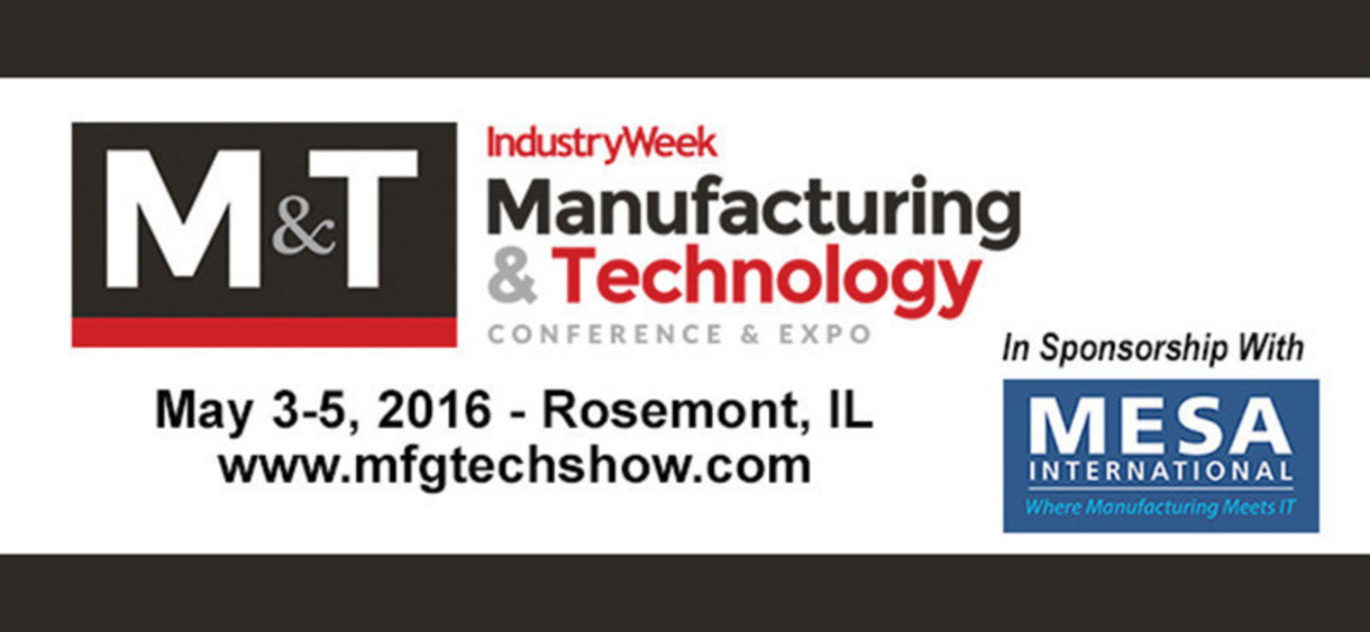 MESA North American Conference to Co-Locate with Penton's 2016 IndustryWeek Manufacturing &
