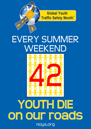 Summer weekends prove deadly for teens on our roads.  (PRNewsFoto/National Organizations for Youth Safety)