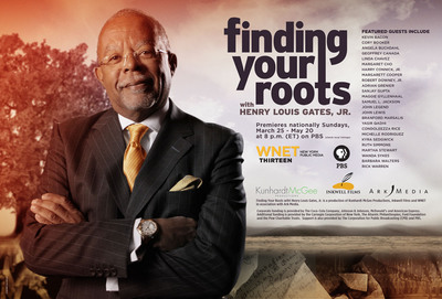 New 10-part series, Finding Your Roots with Henry Louis Gates, Jr., premieres nationally on Sunday, March 25 at 8 p.m. on PBS (check local listings).  (PRNewsFoto/WNET)